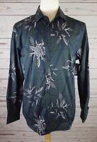 New INC International Concepts Men's Geometric Foliage Shirt Green MSRP $65.00