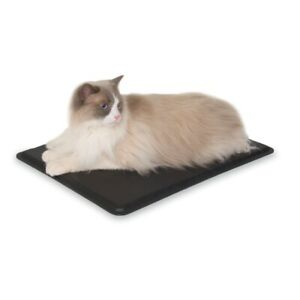 """K&H PET PRODUCTS 3093 Black OUTDOOR HEATED KITTY PAD BLACK 12.5"""" X 18.5"""" X 0.5"""""""