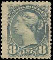 Canada #44a mint F-VF OG DG 1893 Queen Victoria 8c blue grey Small Queen