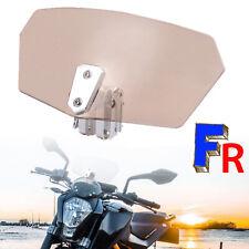 Clip Ajustable Pare-brise Déflecteur de Vent Pour Moto Haute Qualité Marron