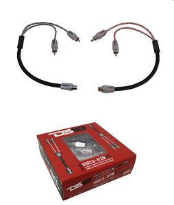 DS18 HQRCA1F2M RCA Audio Y Adapter 1 Female 2 Male Jack Splitter 2Pk