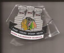 CHICAGO BLACKHAWKS Stanley Cups Champions Pin 2010 2013 2015 players-  NEW