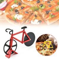 Pizzaschneider Fahrrad Pizza Cutter rostfreier Stahl Antihaft-Beschichtung. Neu