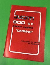 Ducati bevel twins 900 Darmah  manual original New Old Stock Winter Sale price