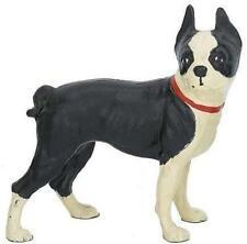 Cast Iron Standing Boston Terrier Dog Doorstop Statue Home Decor Gift