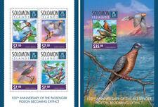 Pigeons Tauben Birds Vögel Animals Fauna Solomon Islands MNH stamp set