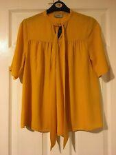 BNWT Papaya Yellow tie blouse size 10