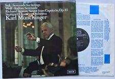 KARL MUNCHINGER JOSEF SUK Serenade for Strings U.K. Decca SXL 6533 EX/EX