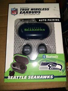 Seattle Seahawks TRUE WIRELESS EARBUDS + Charging Case  (all smart phones tablet