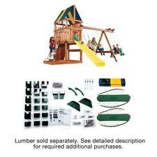Wooden Swing Set Patio Outdoor Playhouse Kit For Kids Big Backyard Small Slide