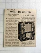 1937 Well-designed Radio Gec Fidelity All Wave 8 Review