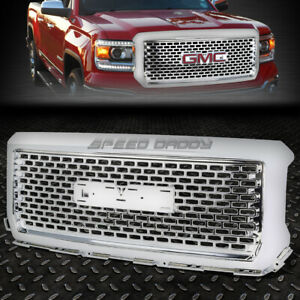 FOR 14-15 GMC SIERRA 1500 GMT K2XX FRONT UPPER CHROME ABS DENALI OE STYLE GRILLE
