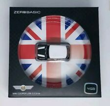 Zero Basic Mini Cooper Car Figure USB 2.0 Flash Drive Stick 4 GB Black White NEW