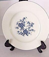 Royal Blue Ironstone Enoch Dinner Plate Wedgwood Tunstall England Silver Edge