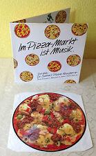 """DR. OETKER´S KNUSPERIA PIZZA (LP) """"ITALO-TOP-HITS"""" [RARE FOC WERBE PICTURE DISC]"""