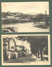 Piemonte. SALUZZO, Cuneo. Due cartoline d'epoca, una viaggiata nel 1948..