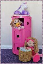 Pink Storage Unit Kids Playroom Tower Toy Organizer Box Girls Room Shelving Unit