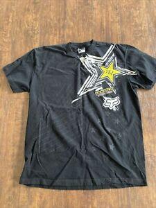 Men XL Fox Racing Rockstar Energy Drink t-shirt  pre-owned