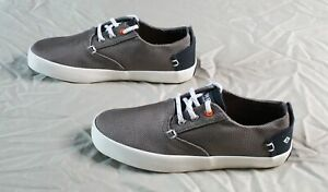 Sperry Boy's Bodie Washable Lace-Up Sneaker RH8 Gray/Navy Size US:13
