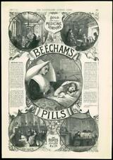 1888 - ADVERTISING BEECHAMS PILLS BOXED FULL PAGE PALACE COTTAGE STUDY SEA (319)