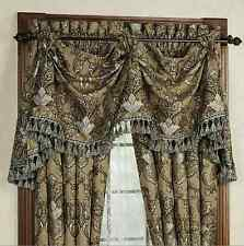 """J. QUEEN New York TOSCA Pole Top DRAPES & Patriot VALANCE Taupe 5PC Set 84"""""""