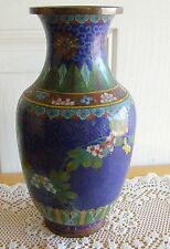 ANTIQUE  CHINESE CLOISONNE VASE CIRCA 1920'S  AS IS  NICE CABINET PIECE MUST SEE