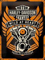 Nostalgic Art Harley-Davidson WILD AT HEART Blechschild 30 x 40 cm