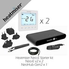 Heatmiser Neo Starter Kit 2, 1 x Hub Gen2 2 x Neo-E  Electric Underfloor Heating