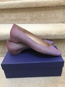 STUART WEITZMAN Julie Pink Purple Mystic Nighttime Flats Pointed 9 M New