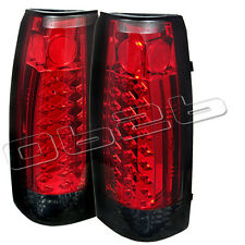 88-98 Chevy Suburban Tahoe LED Rear Tail Lights Lamp New Left+Right Set Red Smok