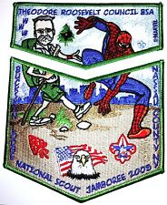 THEODORE ROOSEVELT 2005 BSA Scout Jamboree MARVEL OA 412 FLAP 2-PATCH SPIDERMAN
