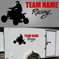 "ATV Race Team Graphic, Quad Sticker, ATV Trailer Decal - 22"" x 48"""