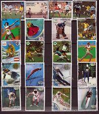 41T4 PARAGUAY 20 timbres  obliteres Sports d'hiver et d'été