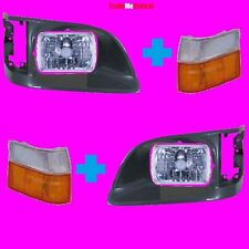 Toyota Hiace Indicator 98-05 Head Lights Surround Plastic Covers Right Left Side
