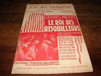 GEORGES MILTON - Partition J'AI MA COMBINE - LE ROI DES RESQUILLEURS !!!!!!!