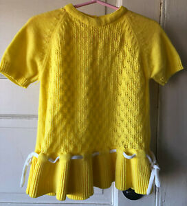 Vintage 1980s Child/'s Acrylic Sweater Dress Size 24 Mo.