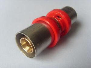 Pressfitting für Verbundrohr Kupplung Muffe 16 x 16 mm DVGW