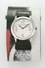 Fossil ACME Warner Bros Watch Mens Leather Cuff Stainless Silver Battery Quartz