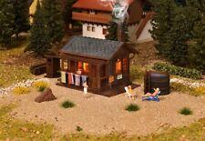 Vollmer 45146, H0 Sauna mit Inneneinrichtung und LED-Beleuchtung, Bausatz 1:87