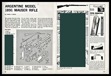 Argentine 1891 Mauser Rifle Exploded View Parts List 2-page Assembly Article