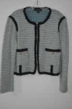St. John Collection Green Tweed  Full Zip Wool Jacket Size 16