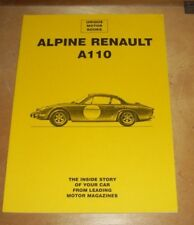 ALPINE RENAULT A110 ROAD TEST REPRINTS BOOK UNIQUE MOTOR BOOKS