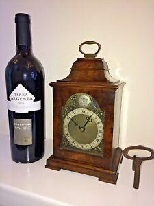 STUNNING MINIATURE BRACKET CLOCK by MERCER of ST ALBANS, ENGLAND circa 1930s.