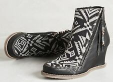 BUYAMBA ANTHROPOLOGIE $175 Black Aura TAPESTRY LEATHER ANKLE BOOT 8 Free People