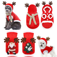 Christmas Dog Clothes Small Dog Winter Soft Warm Coat Puppy Chihuahua Sweater UK