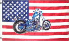 3x5 USA Bike Motorcycle Motor Cycle Chopper 3'x5' Flag House Banner Grommets