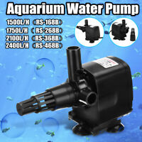 1500-2400L/H Submersible Aquarium Water Pump Air Oxygen Pond Fountain ABS  New