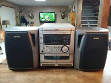 AIWA Vintage CX-NAJ10U FM/AM Radio 3 CD Player Dual Cassette Stereo System AS IS