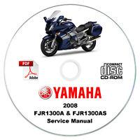 Yamaha FJR1300A (X) & FJR1300AS (X) 2008 Service Manual CD