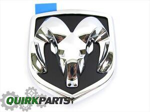 2006-2009 Dodge Ram 1500 2500 Hood Emblem For Grille Chrome Black OEM MOPAR NEW